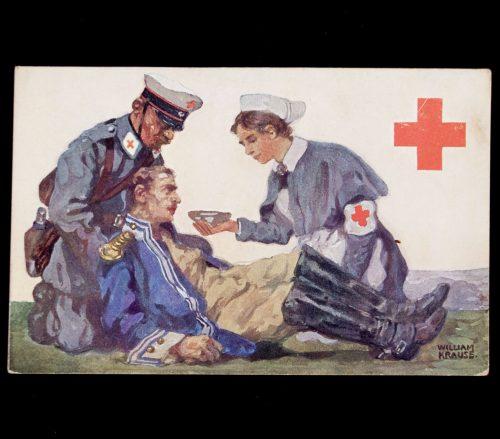 Postcard: Rotes Kreuz Königreich Sachsen (William Krause)