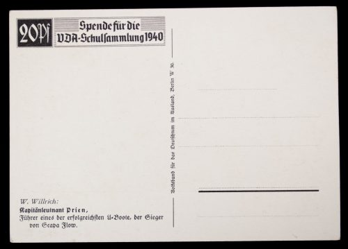 Postcard: W. Willrich – Günther Prien