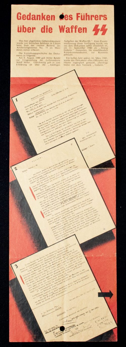 Propaganda leaflet: Gedanken des Führers über die Waffen SS (G.42)