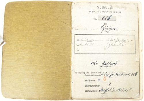 Soldbuch 2.Standortkompanie zur Besonderen Verwendung in Kassel