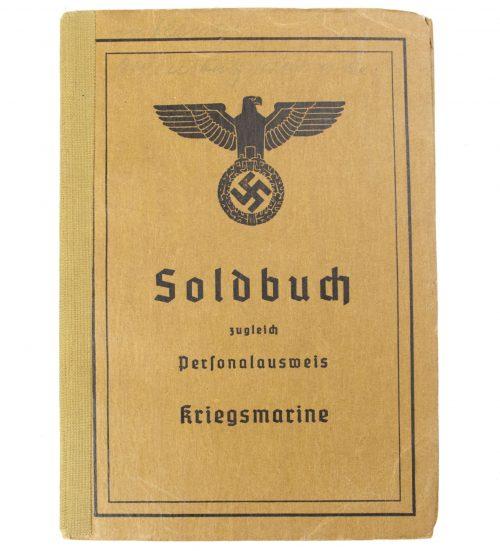 Soldbuch Kriegsmarine (with Frontkämpfer Ehrenkreuz + Sudetenmedaille)