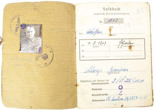 Soldbuch Schützen of 5. Art. Rgt. 233