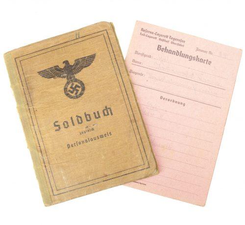 Soldbuch Stamm Kp. / Inf.Ers. Btl. 346 + Behandlungskarte