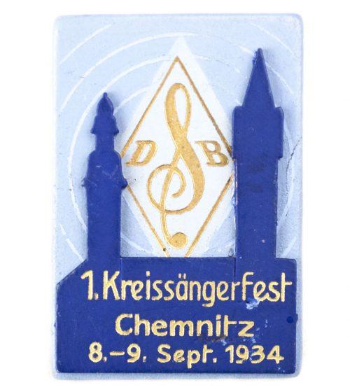 1. Kreissängerfest Chemnitz 8.-9. Sept 1934 abzeichen