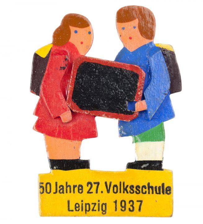 50 Jahre 27. Volksschule Leipzig 1937 abzeichen