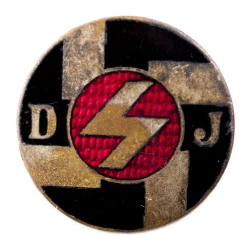 (DJ) Deutsches Jungvolk in der Hitlerjugend (HJ) abzeichen