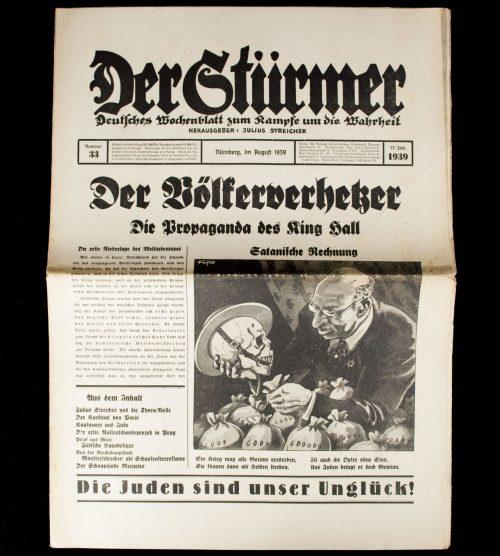 Der Sturmer (Julius Streicher) Nummer 33 (1939)