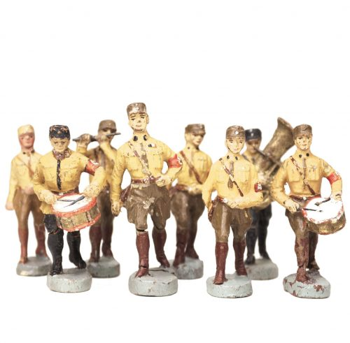 Elastolin group of 8 Sturmabteilung (SA) toyfigures