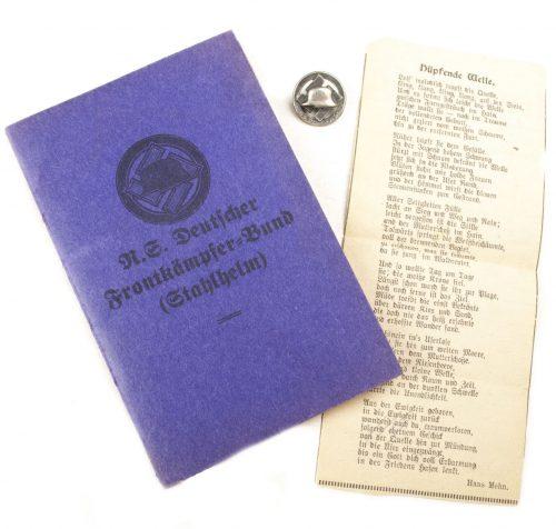 N.S. Frontkämpferbund (Stahlhelmbund) memberpass + memberbadge