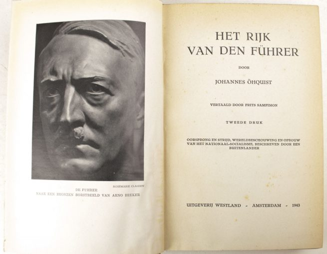 (NSB) Het Rijk van den Führer: oorsprong en strijd, wereldbeschouwingen opbouw van het nationaal socialisme (1943)