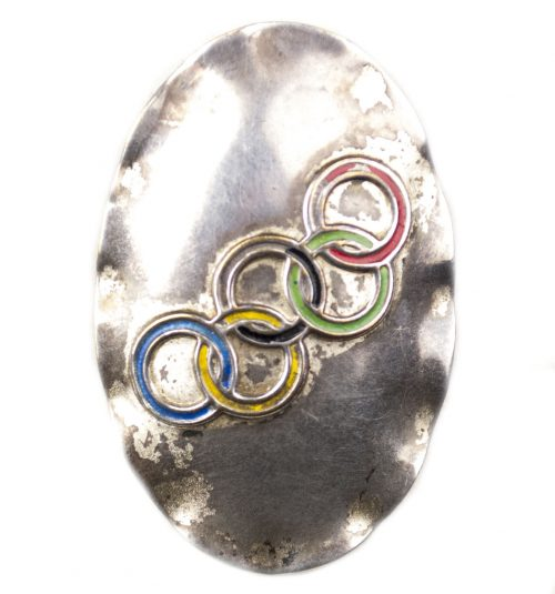 Olympia 1936 brosche with clip (Olympic games brooch)