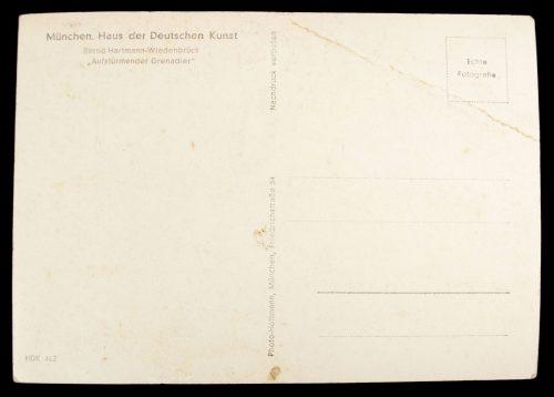 """Postcard: """"Aufstürmender Grenadier"""""""