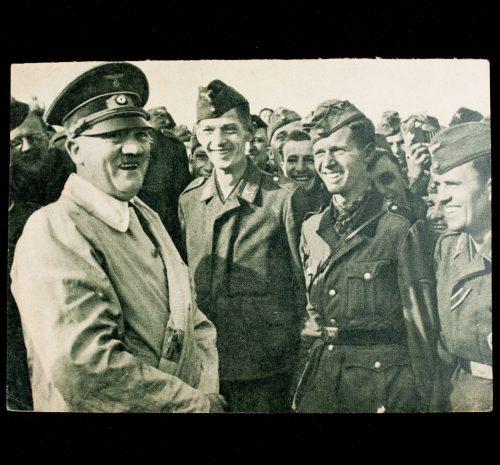 Postcard: Der Führer und Oberste Befehlshaber im Kreise seiner Soldaten (Photo Hoffmann)