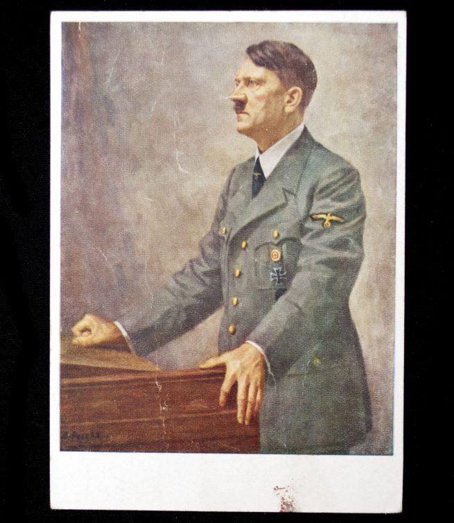 Postcard: Hitler (Bruno Jacobs painting)