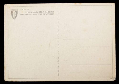 Postcard: Infanterie auf Sowjetischen Wegen