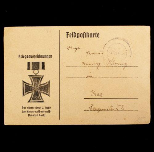 Postcard: Kriegsauszeichnungen Feldpostkarte - Das Eiserne Kreuz 2. Klasse