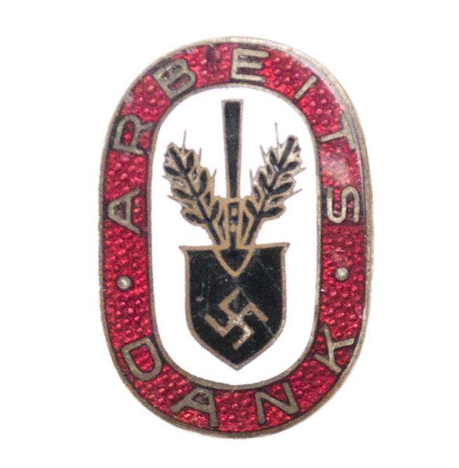 (RAD) Reichsarbeitsdienst - Arbeitsdank badge