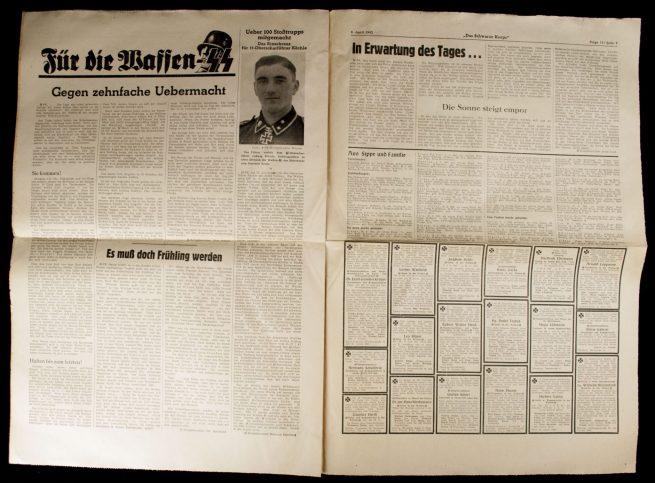 SS Newspaper - Das Schwarze Korps 9. April 1942 (15. Folge 8. Jahrgang)