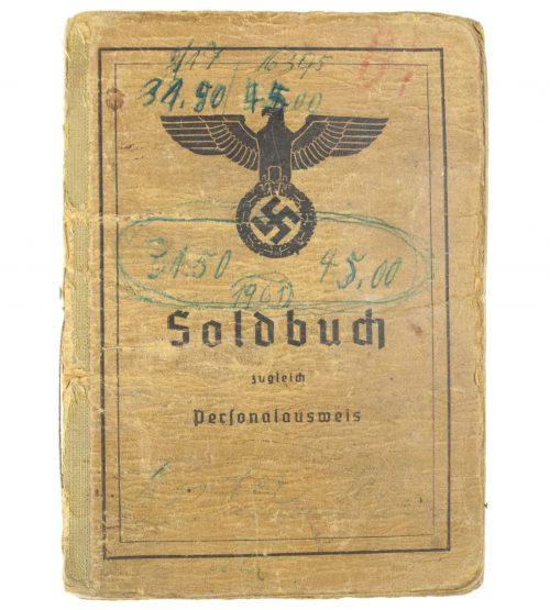 Soldbuch with passphoto from 1. Komp. infanterie Ersatz Bataillon 342
