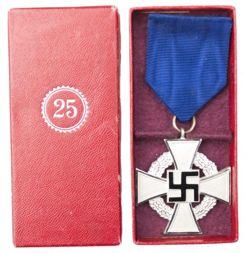Treue Dienste 25 Jahre Kreuz Loyal Service 25 Years Cross + etui