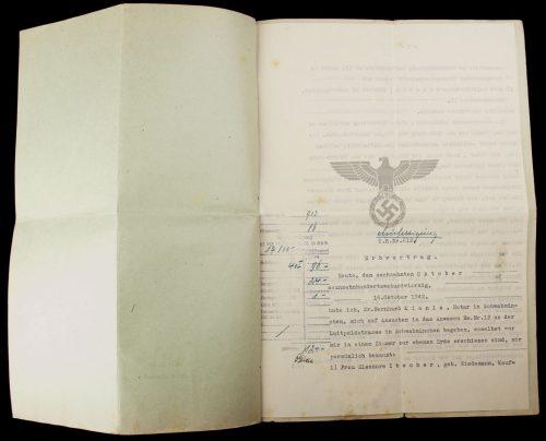 Urkunde des Notars Dr. Bernhard Kienle Nota in Schwabmünchen (1942)