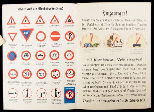 WWII German Police traffic guide: Fussgänger im Verkehr