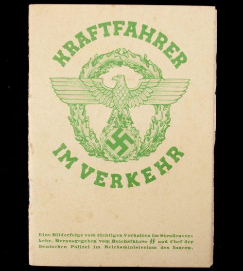 WWII German Police traffic guide: Kraftfahrer im Verkehr