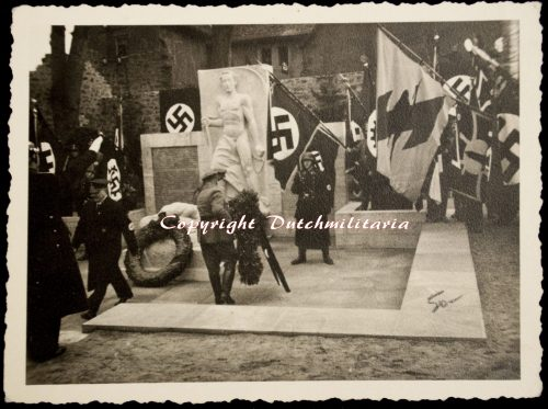 WWII German monument Flags display photo