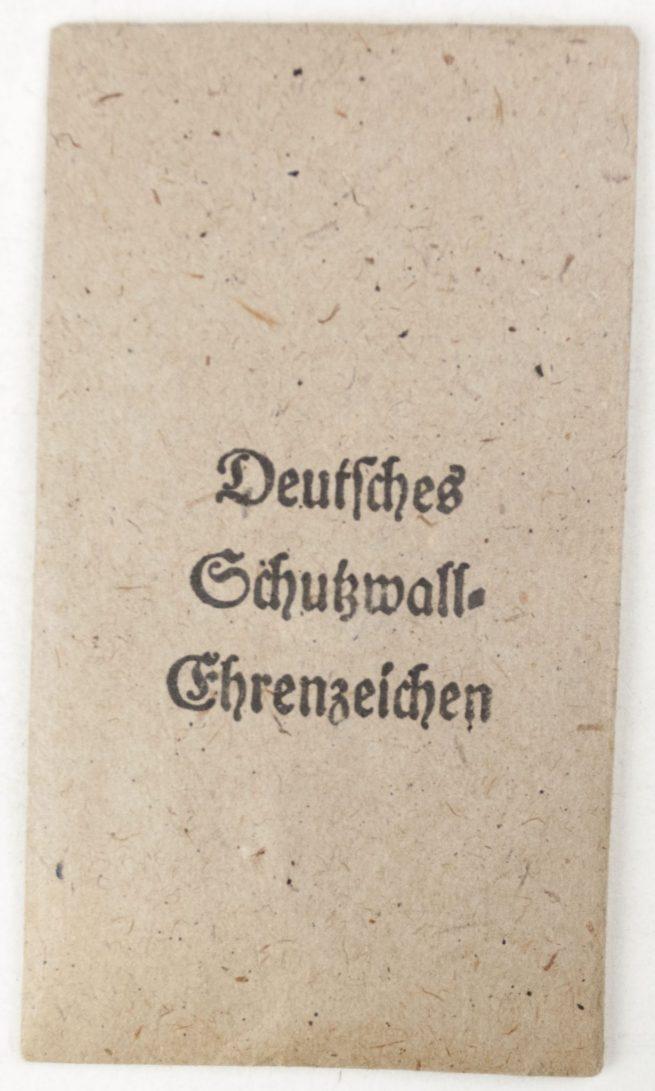 Westwall / Schutzwall medal with bag by maker Carl Poellath from Schrobenhausen