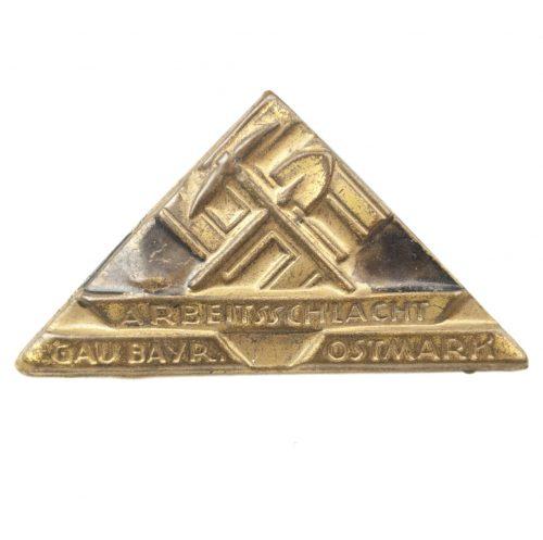 Arbeitsschlacht Gau Bayerische Ostmark abzeichen (badge)