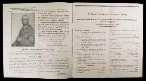 Deutschen Roten Kreuzes: Ausserordentliche Tagung des Reichsverbandes Deutscher Sanitätskolonnen Coburg 1933