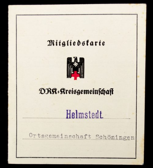 Deutschen Roten Kreuzes (DRK) Mitgliedskarte DRK-Kreisgemeinschaft Helmstedt