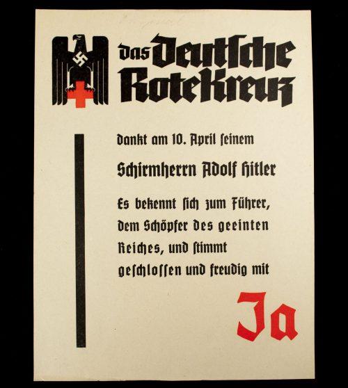 Deutsches Rotes Kreuz (DRK) Mini-poster/Plakat