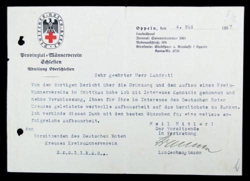 Deutsches Rotes Kreuz Provinzial Männerverein Schlesien letter