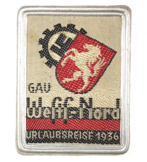 Gau Westf.- Nord Urlaubsreise 1936 abzeichen