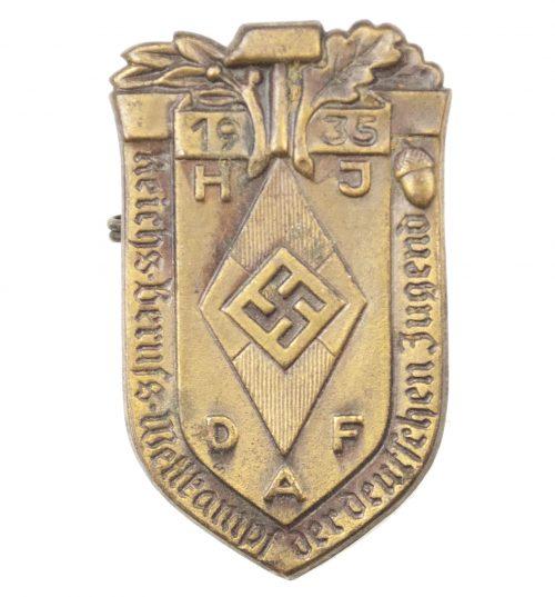 Hitlerjugend – HJ Reichsberufswettkampf der Deutsche Jugend 1935 abzeichen