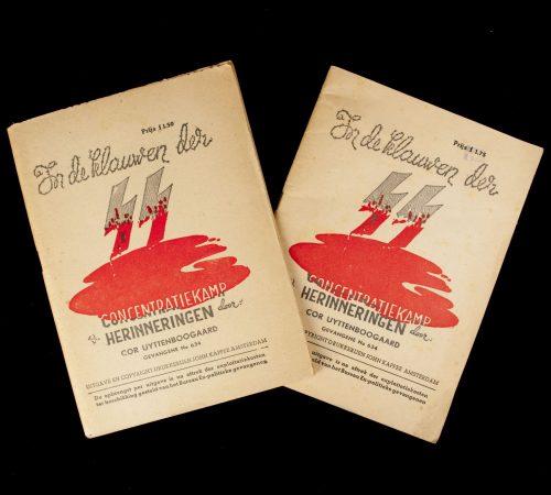 In de klauwen der SS Concentratiekamp Herinneringen door Cor Uyttenboogaard Gevangen No. 634 (Two editions)