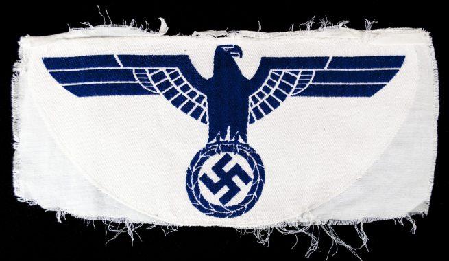 Kriegsmarine (Km) large Sportshirt Breast Eagle (Blue)