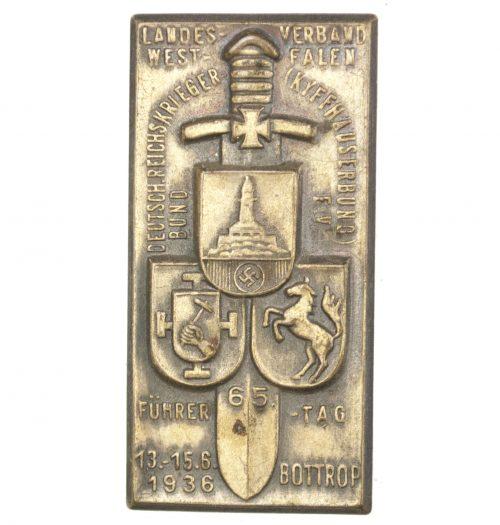 Landesverband Westfalen Deutscher Reichskriegerbund (Kyffhäuserbund E.V.) Führertag Bottrop 1936