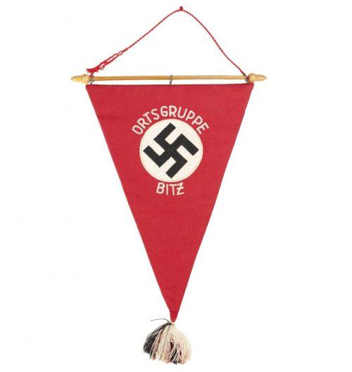 National Sozialistische Frauenschaft pennant from Ortsgruppe Bitz (RARE!)