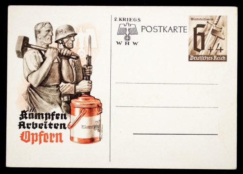 Postcard: Winterhilfswerk (WHW) Kämpfen, Arbeiten, Opfern