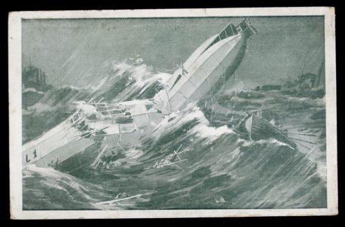 Postcard: Zeppelin Die Todesfahrt vor Helgoland