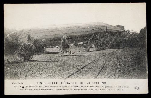 Postcard: Zeppelin Lz49 crash