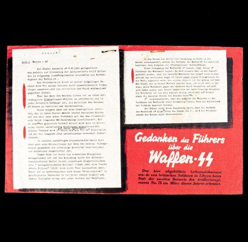 Propaganda leaflet: Gedanken des Führers über die Waffen SS - 1942 (G.46)