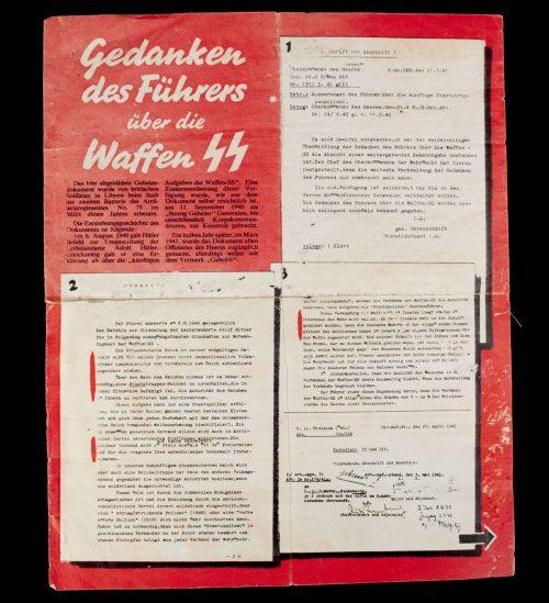 Propaganda leaflet: Gedanken des Führers über die Waffen SS/Hitlers Freibrief für die SS – 1942 (G.42)