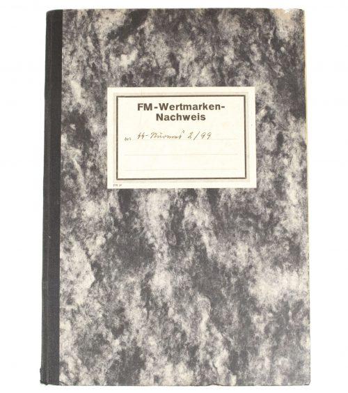 SS-FM / SS-Fördernde Mitglieder Wertmarked Nachweis book from 1939 (RARE!)