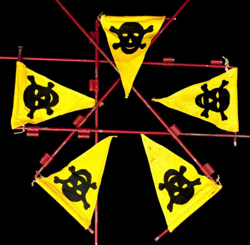 WWII German Pioniere Gas Mine warning flag