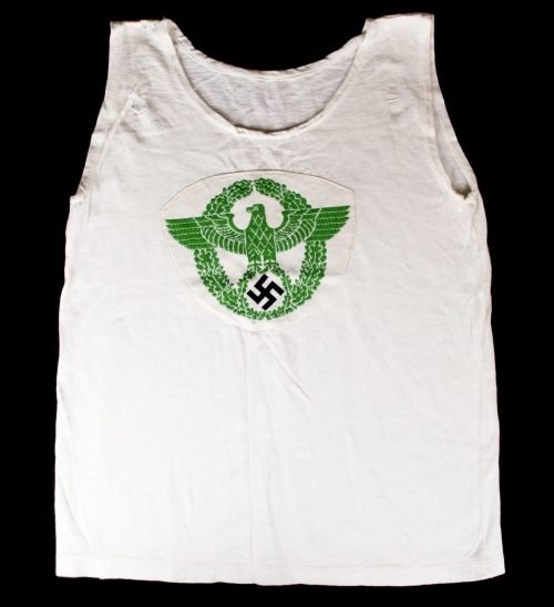 WWII Polizei Sportshirt with large Breast Eagle (green)
