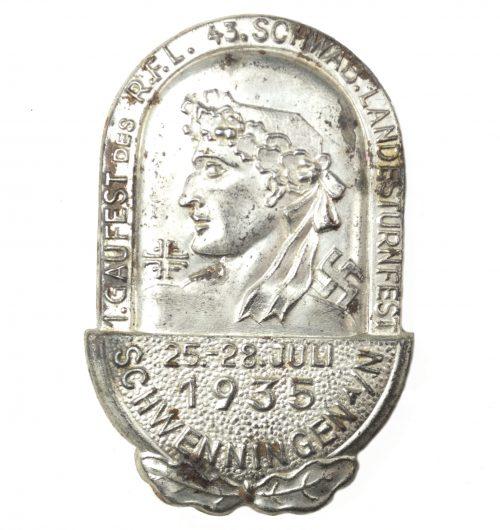 1. Gaufest des R.F.L. 43. Schwab. Landesturnfest Schwenningen a/N 1935