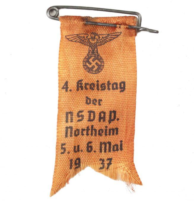 4. Kreistag der NSDAP Northeim 5. u. 6. Mai 1937 abzeichen
